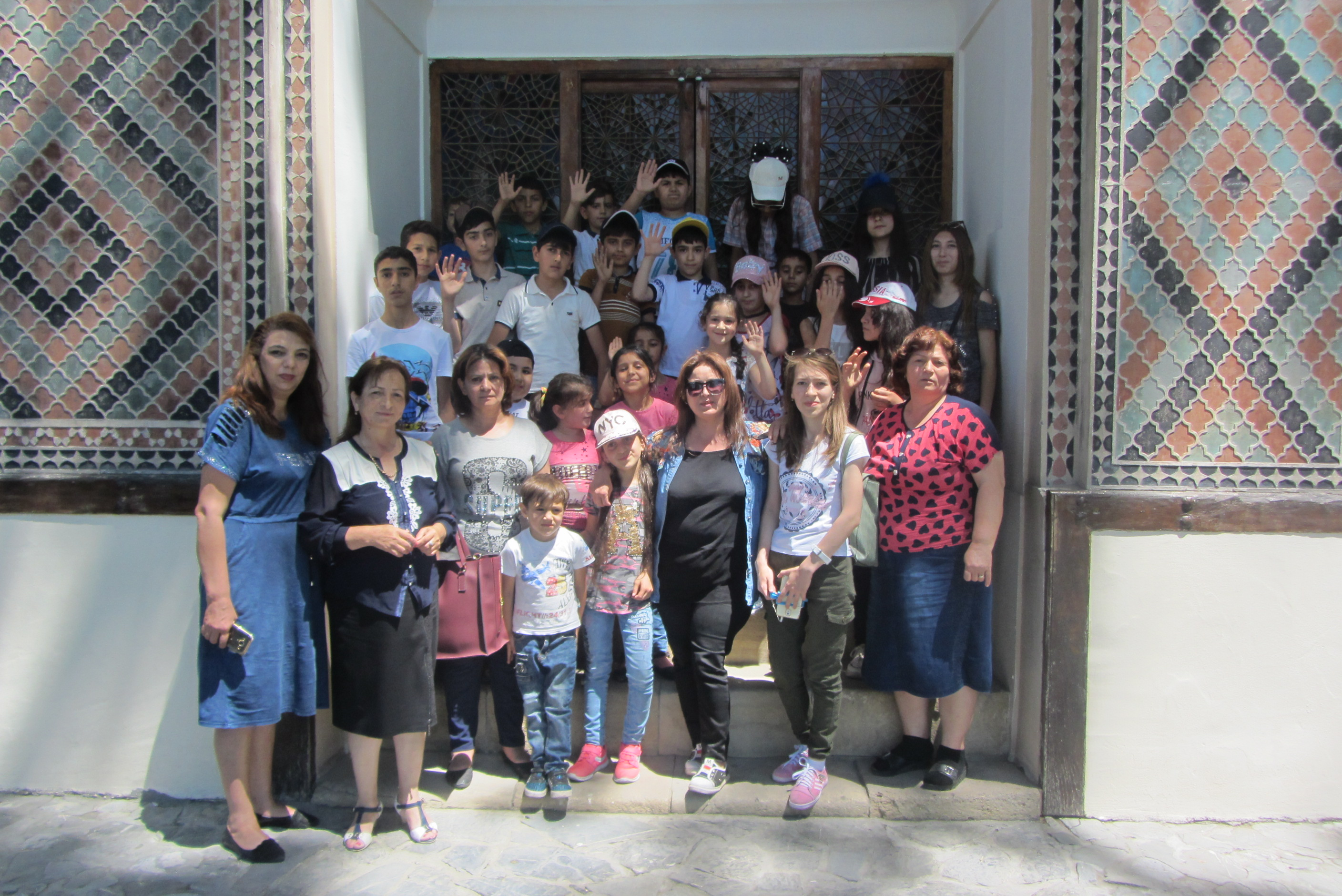 For Aghdam resident children tour to the Sheki Khan Palace was organized